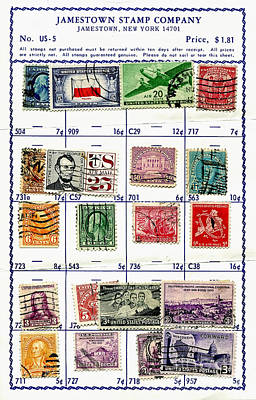 Photograph - Collecting Stamps 1 by Kathleen K Parker