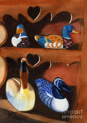 Painting - Collection Of Ducks by Teresa Boston
