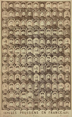 Collection Of Mosaic Heads, Types De Soldats Allemands 1870 Art Print