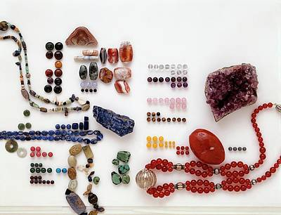 Carnelian Photograph - Collection Of Semi-precious Minerals by Dorling Kindersley/uig