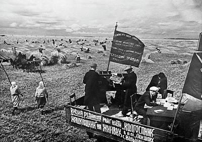 Kiev Wall Art - Photograph - Collective Farm Propaganda by Library Of Congress