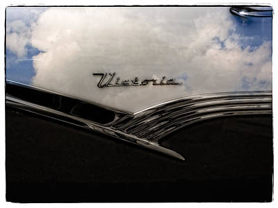 Photograph - Ford Victoria Cloud Reflections Collector Car  by Roxy Hurtubise