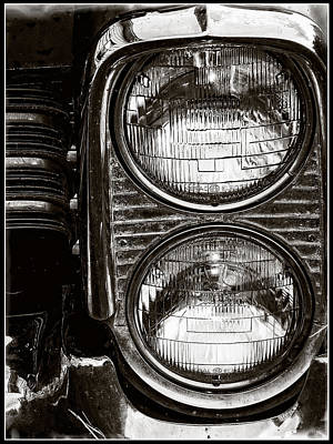 Photograph - Collector Car Chrome Headlights by Roxy Hurtubise