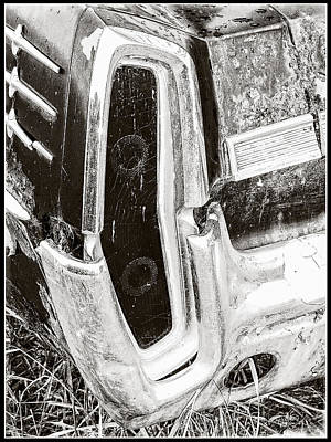 Photograph - Laurentian Rear Tail Light Collector Car by Roxy Hurtubise