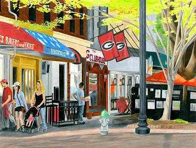 Spring Scenes Drawing - College Avenue by Carmen Kraus