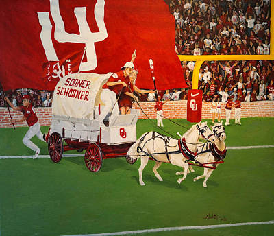 Impresionist Painting - College Football In America by Alan Lakin