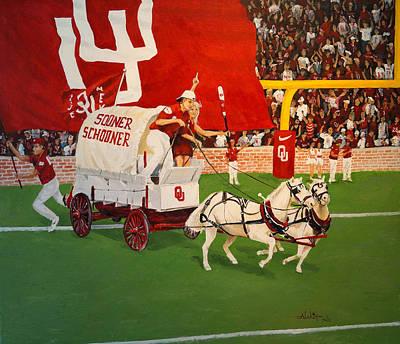 College Football In America Art Print