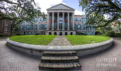 College Of Charleston Randolph Hall Cistern Art Print by Dustin K Ryan