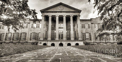 College Of Charleston Randolph Hall Sepia Art Print by Dustin K Ryan