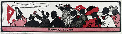 Harvard Drawing - College Sports, 1905 by Granger
