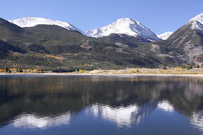 Collegiate Peaks Reflected Art Print by Harold Rau