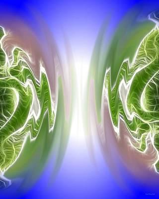 Colliding Atoms Art Print by Daniel Madrid