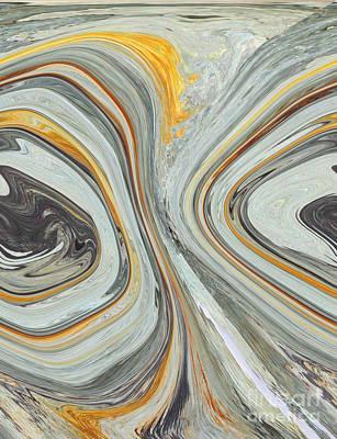 Colliding Circles Art Print