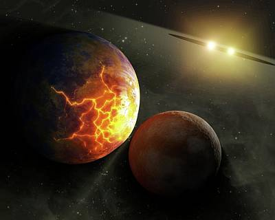 Colliding Planets Art Print by Nasa/jpl-caltech