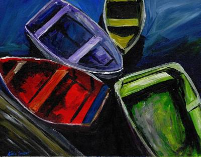 Painting - Colliding Skiffs by Katie Sasser