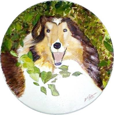 Painting - Collie by PacKlui Studio