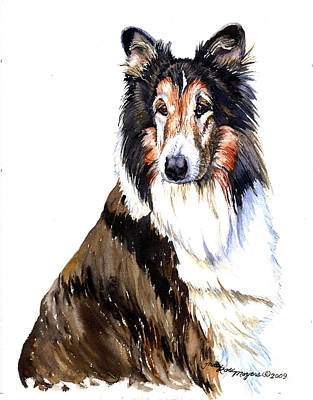 Painting - Collie by Tracy Rose Moyers