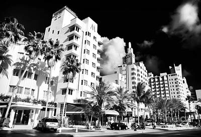 Collins Avenue Print by John Rizzuto