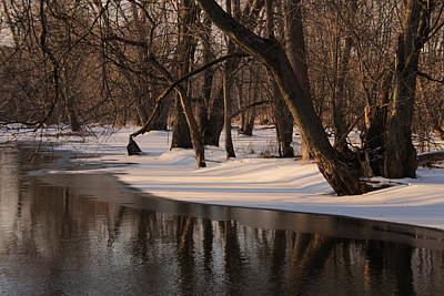 Photograph - Collins Creek In Winter 10 by Jim Vance