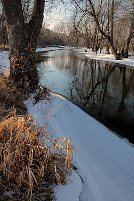 Photograph - Collins Creek In Winter 11 by Jim Vance