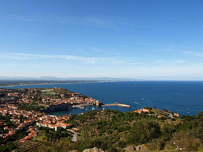Clouds Rights Managed Images - Collioure By the Sea Royalty-Free Image by Valerie Mellema