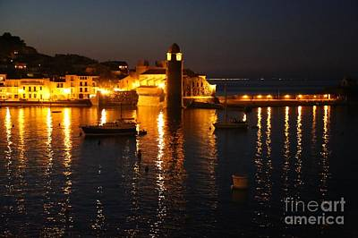 Collioure Photograph - Collioure Castle At Night by Carol Groenen