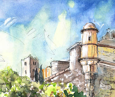 South Of France Painting - Collioure Castle by Miki De Goodaboom