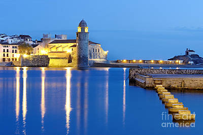 Collioure Harbour France Art Print