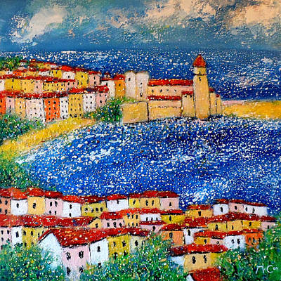 South Of France Painting - Collioure by K McCoy