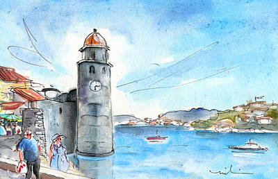 Collioure Painting - Collioure Tower by Miki De Goodaboom