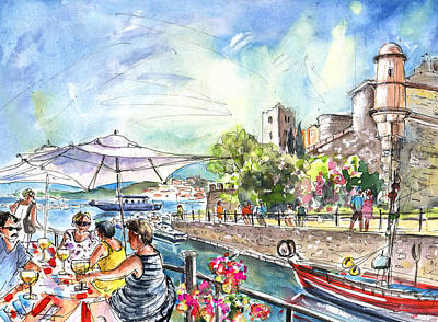 South Of France Painting - Collioure Harbour 02 by Miki De Goodaboom