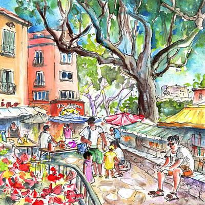Collioure Market 02 Art Print by Miki De Goodaboom