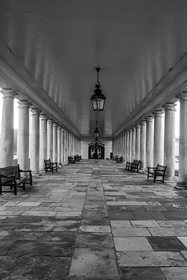 Royal Naval Chapel Photograph - Columns Queens House Greenwich by Claire  Doherty
