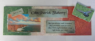 Mixed Media - Colm Irish Name Plate by Anita Burgermeister