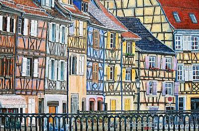 Colmar France Wall Art - Painting - Colmar France by Mike Rabe