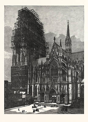Cologne Cathedral, Finished After Six Centuries Art Print