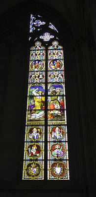 Relief Art Photograph - Cologne Cathedral Stained Glass Window Of St. Stephen by Teresa Mucha