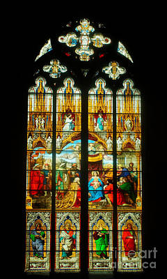 Photograph - Cologne Cathedral Window 1 by Rudi Prott