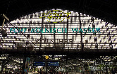 Photograph - Cologne - Central Station - 4711 by Eva-Maria Di Bella