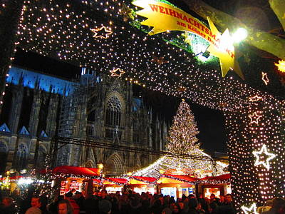 Christmas Trees Photograph - Cologne Christmas Market by Andreas Thust