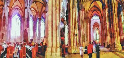 Cologne Dome Interior Art Print
