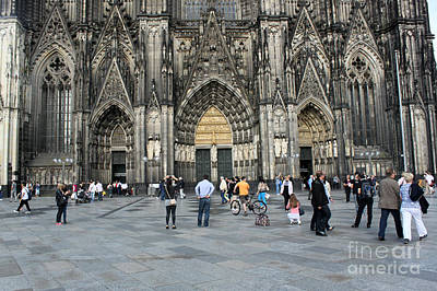 Cologne Germany - High Cathedral Of St. Peter - 17 Art Print by Gregory Dyer