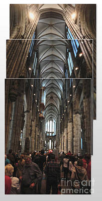 Cologne Germany - High Cathedral Of St. Peter - 01 Art Print by Gregory Dyer
