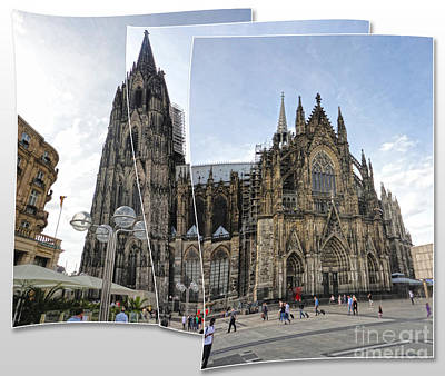 Cologne Germany - High Cathedral Of St. Peter - 03 Art Print by Gregory Dyer
