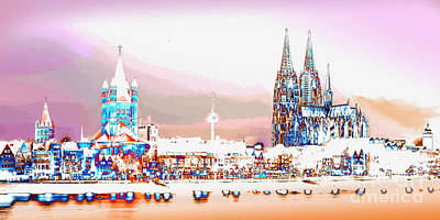Photograph - Cologne Panorama 1 by Rudi Prott