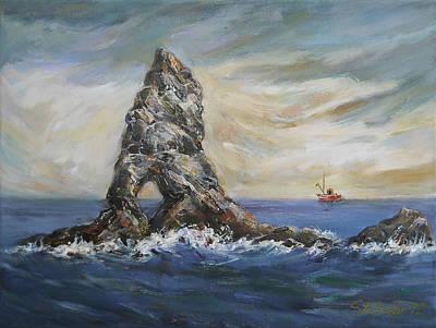 Colombretes Island Art Print by Stefano Popovski