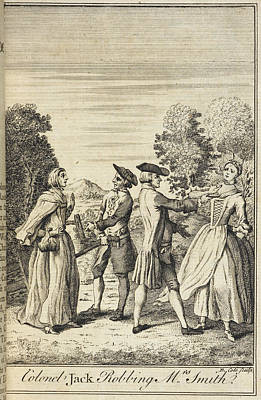 Highwaymen Photograph - Colonel Jack Robbing Mrs Smith by British Library