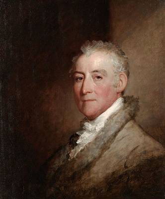 Painter Photograph - Colonel John Trumbull, 1818 Oil On Wood Panel by Gilbert Stuart