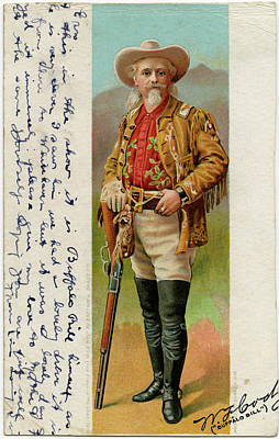 Bison Drawing - Colonel William Frederick Cody (1846 - by Mary Evans Picture Library