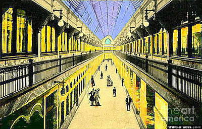 Painting - Colonial Arcade In Cleveland Oh 1910 by Dwight Goss